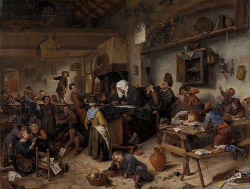 A School for Boys and Girls, 1670, Jan Steen, National Gallery of Scotland