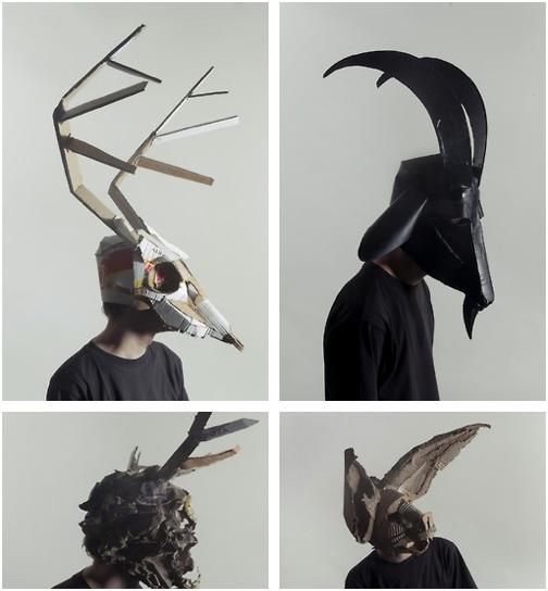 Diy Cardboard Masks: Cardboard Masks By Josef Mrva
