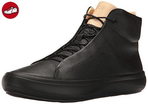 Herren Kinhin Sneaker, Schwarz (Black/Veg Tan), 42 EU Ecco