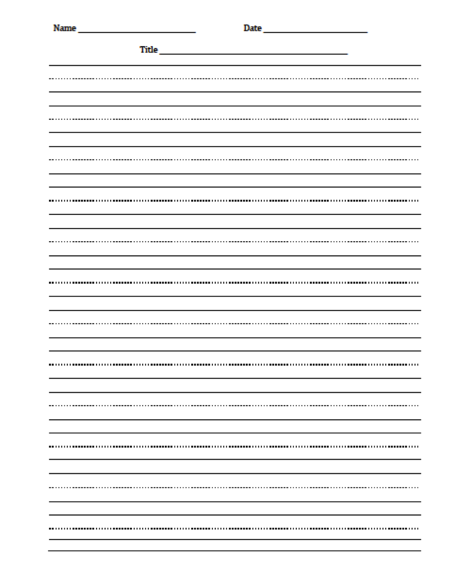 The Idea Backpack: Freebie - Editable Handwriting Paper   Primary writing  paper [ 1149 x 900 Pixel ]