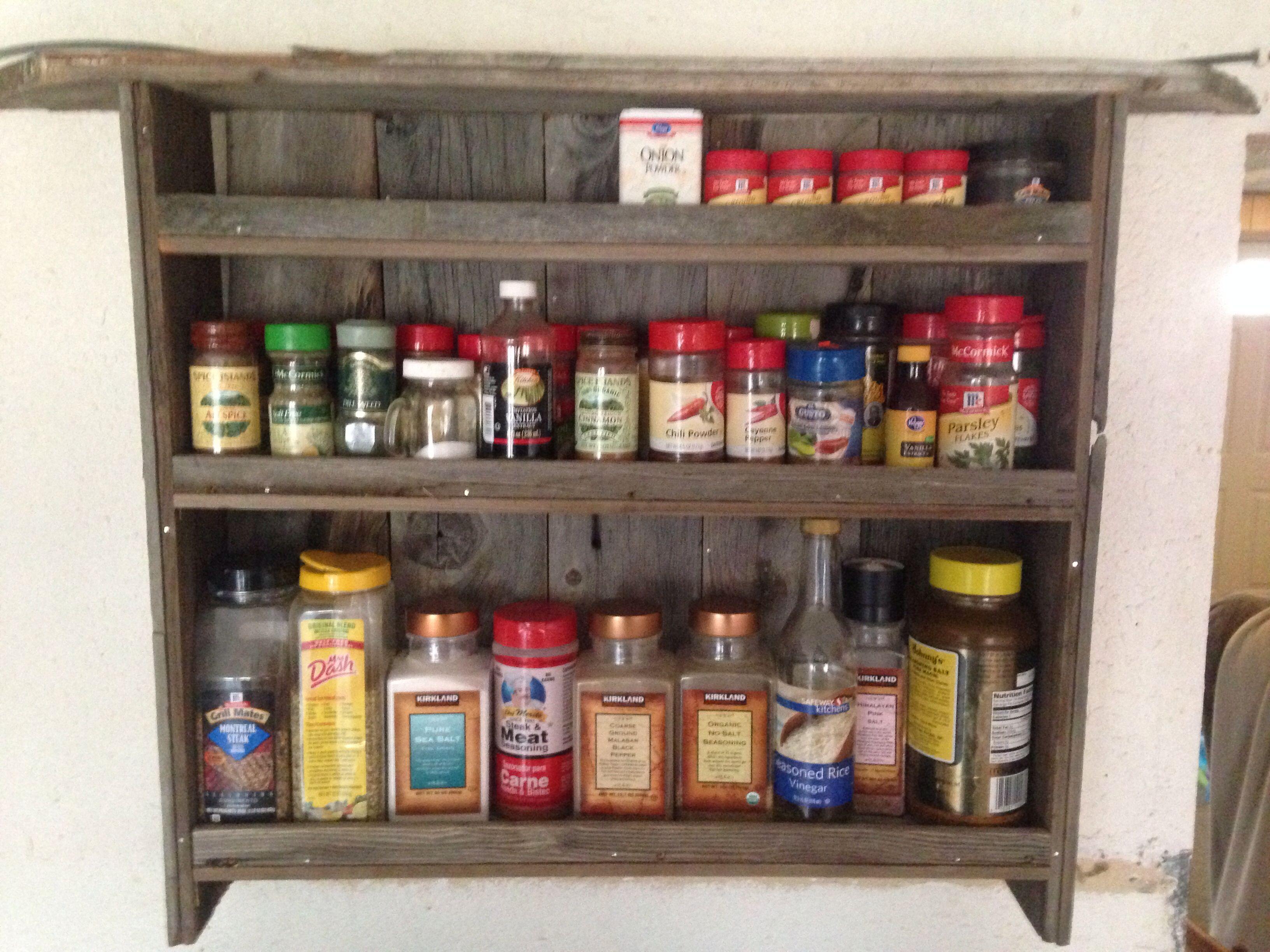 Barn wood spice rack