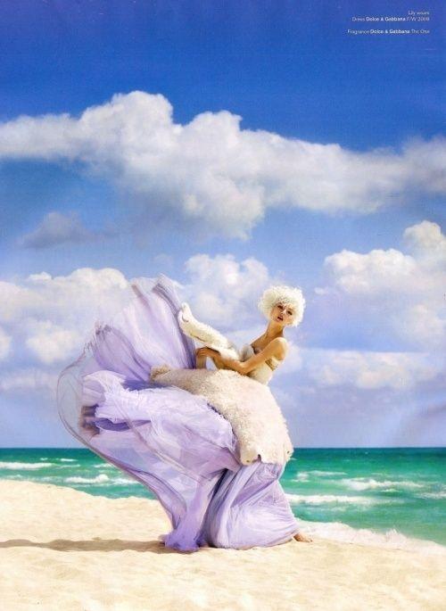 Washing Ashore - Lily Donaldson for V Magazine