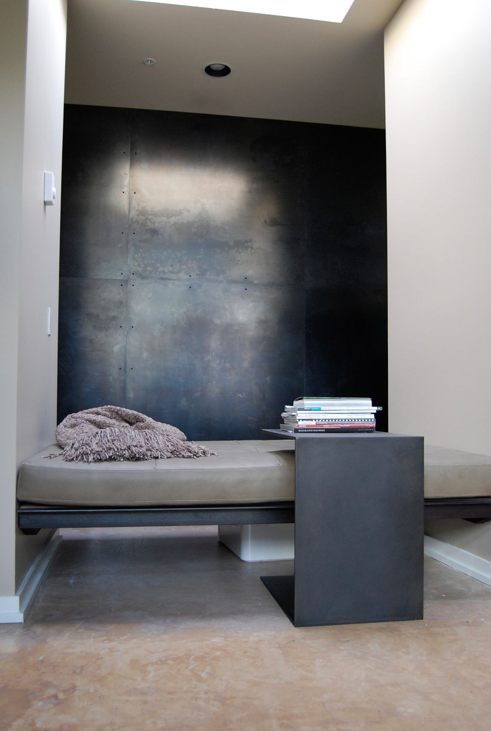 Metal wall hot rolled steel architecture pinterest cold steel metal walls and steel for Metal panels for interior walls