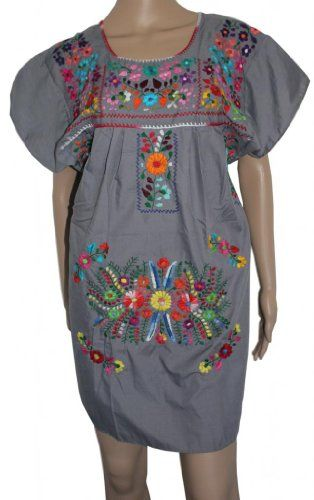 Embroidered Mexican Peasant Half Mini…