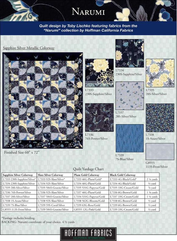 Narumi FREE quilt pattern. Available at HoffmanFabrics.com ... : hoffman free quilt patterns - Adamdwight.com