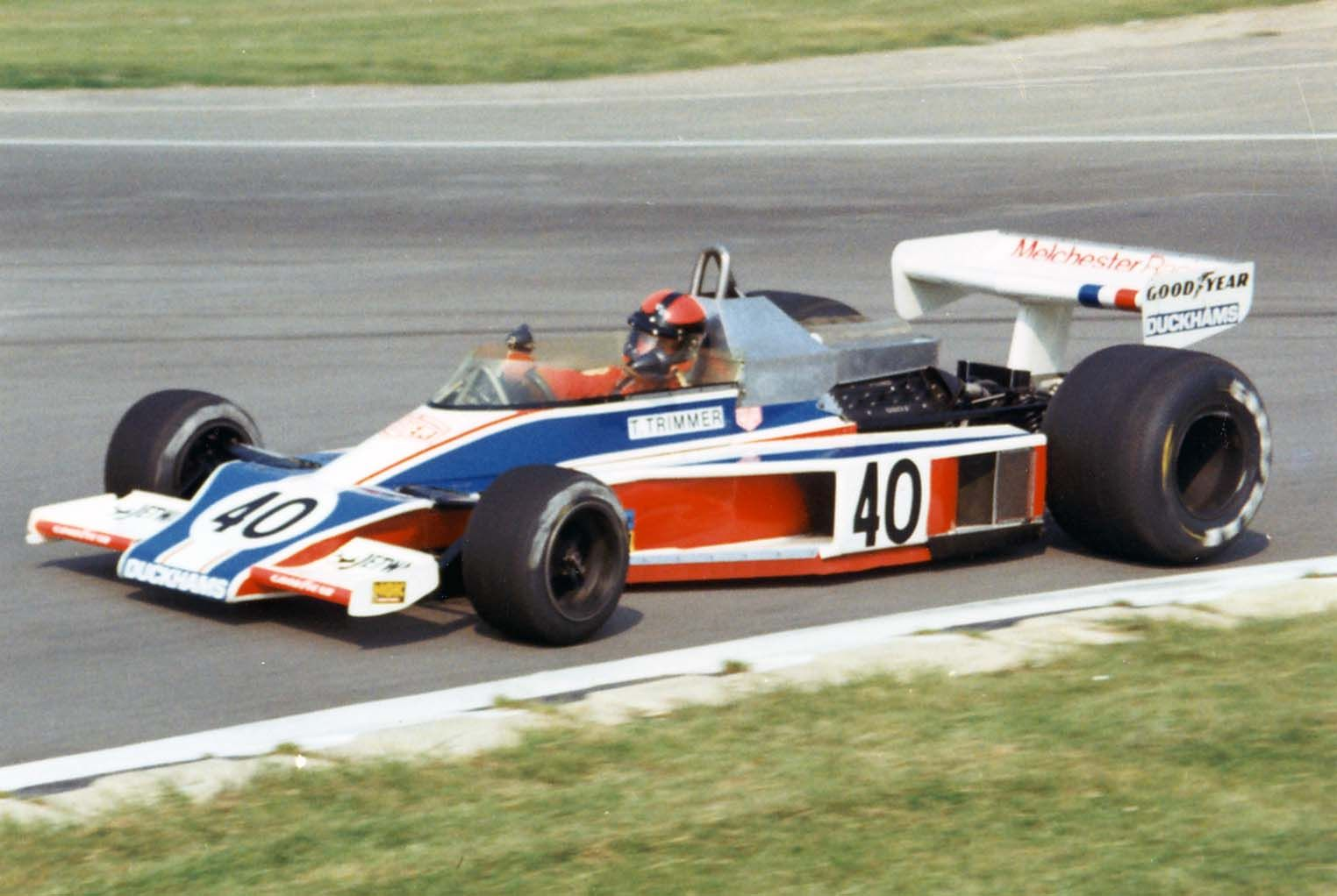 Tony Trimmer (Melchester Racing) McLaren M23 - Ford