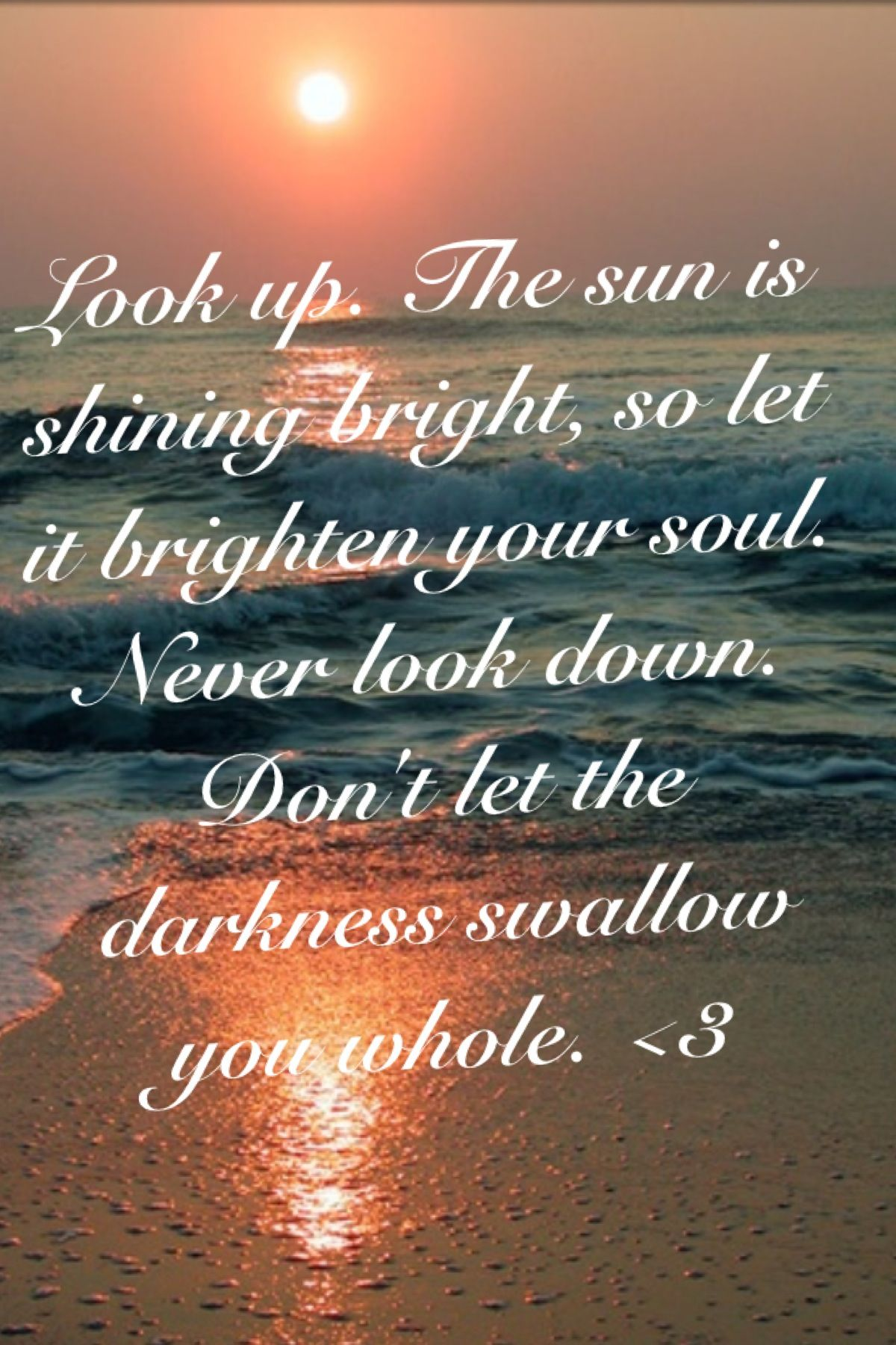 Look Up I Made This Quote Up Today And Now It Ll Be My New Motto Always Look Up Never Down 3 Looking Up Great Quotes Let It Be