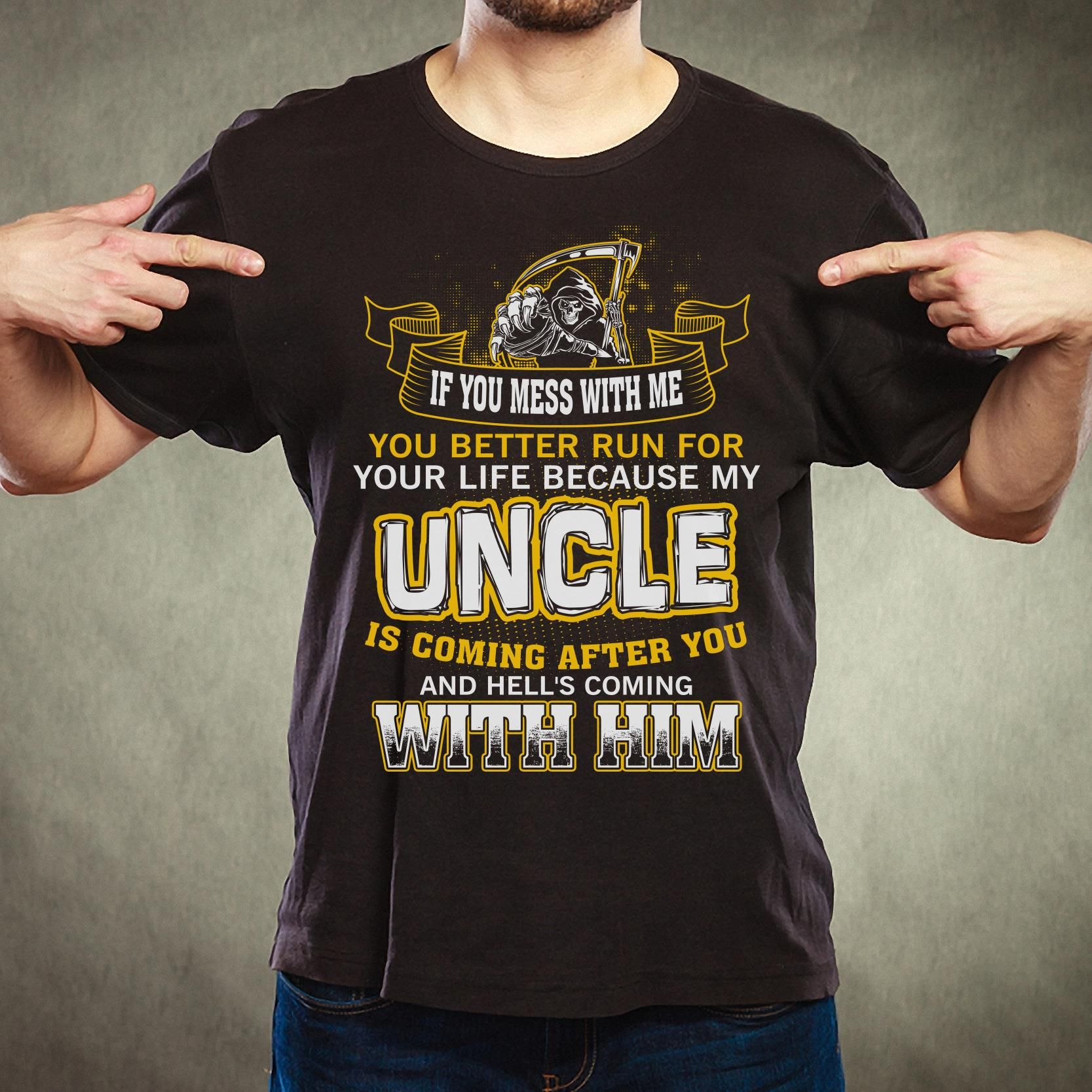Awesome Uncle Long Sleeve T-Shirt Birthday Gift Idea Niece Nephew Holiday Crew