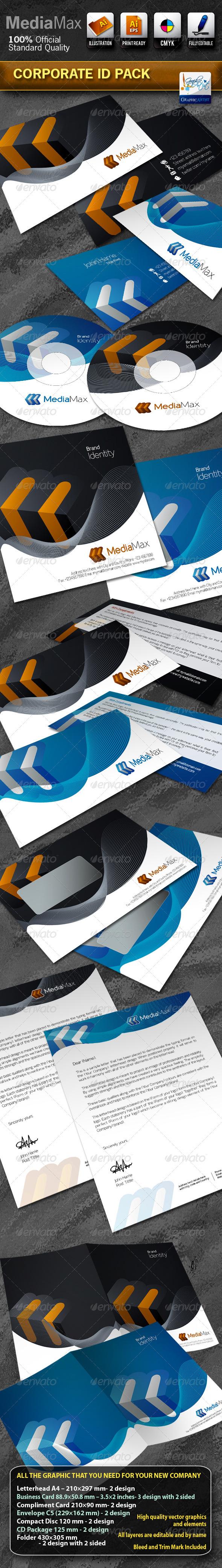 Ipower Midea Studio Corporate Identity GraphicRiver File