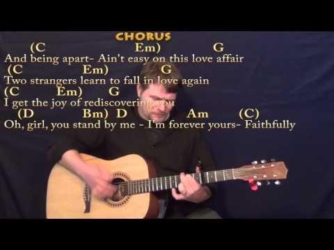Faithfully Journey Strum Guitar Cover Lesson With Chordslyrics