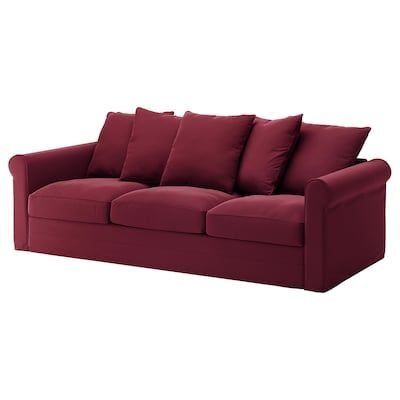 GRÖNLID 3er-Sofa - Ljungen dunkelrot - IKEA Deutschland ...
