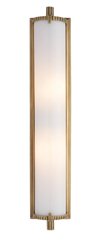 Calliope Bath Light, Antiqued Brass