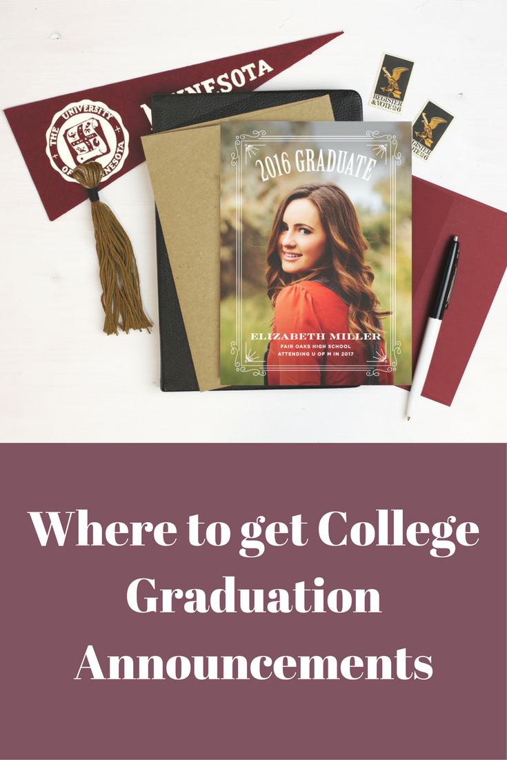 basic invite where to get college graduation announcements picture