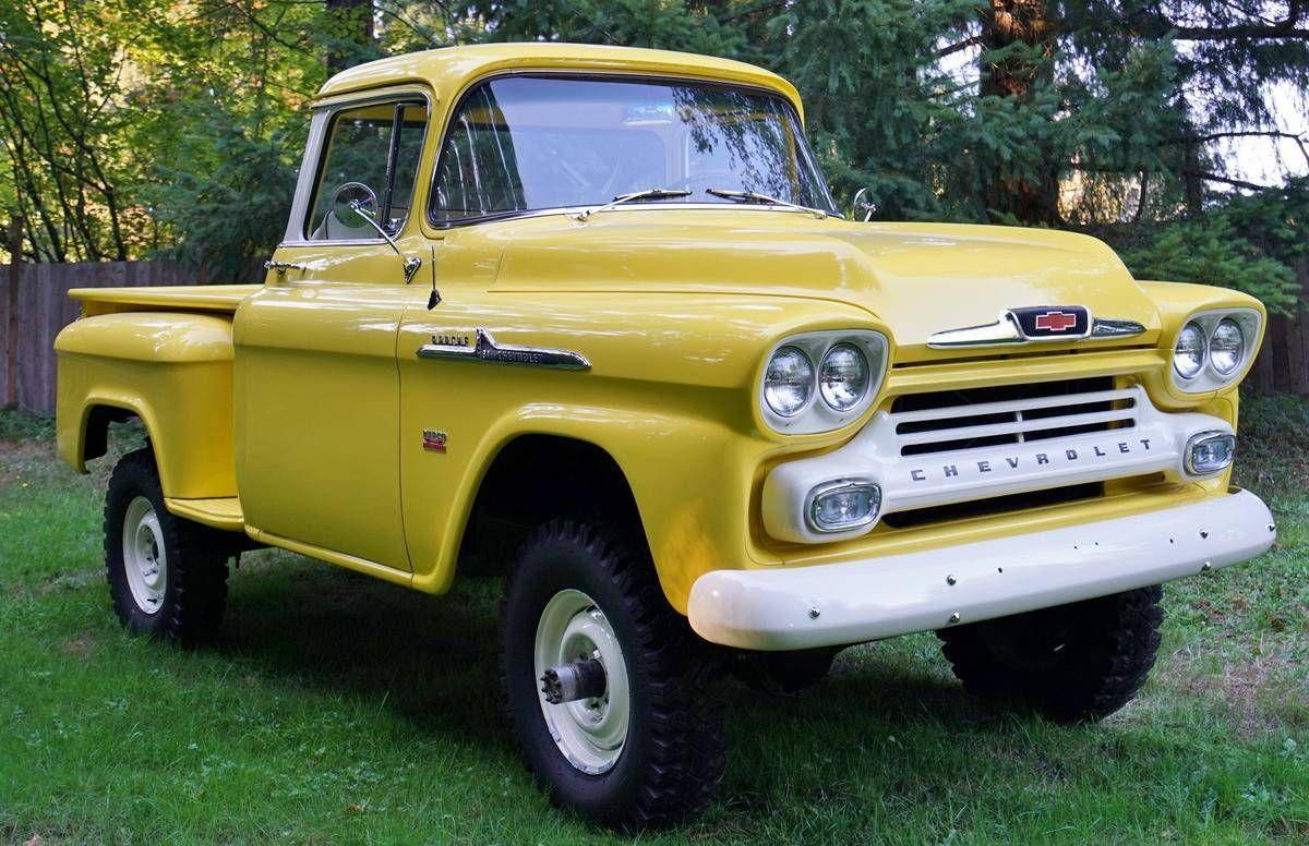 1958 chevrolet 3100 napco big window deluxe cab