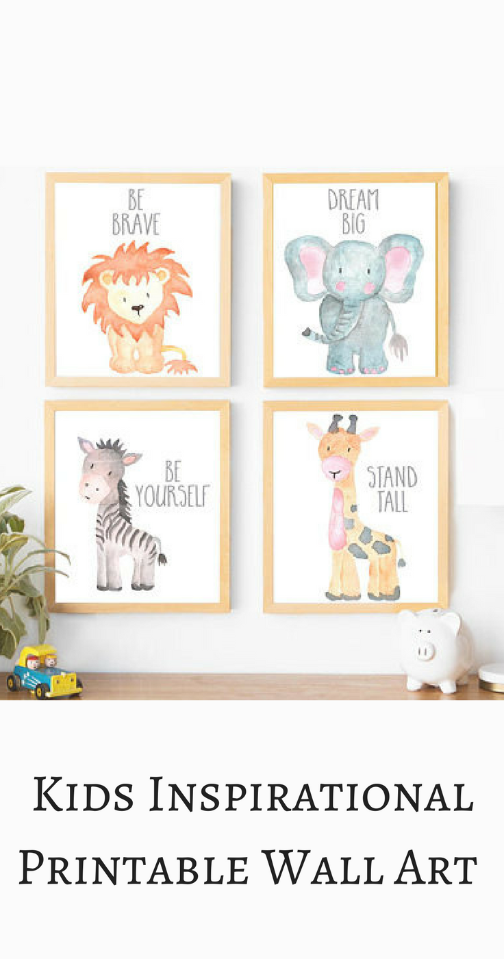 I love this inspirational animal printable wall art gallery, perfect for a little boys' nursery. Be brave, be yourself, stand tall,dream big! Boy Nursery Wall Art, Boy Nursery Decor, Baby Animals, Gray Nursery, Neutral Nursery, Elephant, Lion, Giraffe, Zebra, Nursery Decor, Boy Nursery Ideas, modern nursery, mature nursery, instant download . #afflink -   24 nursery decor animals ideas