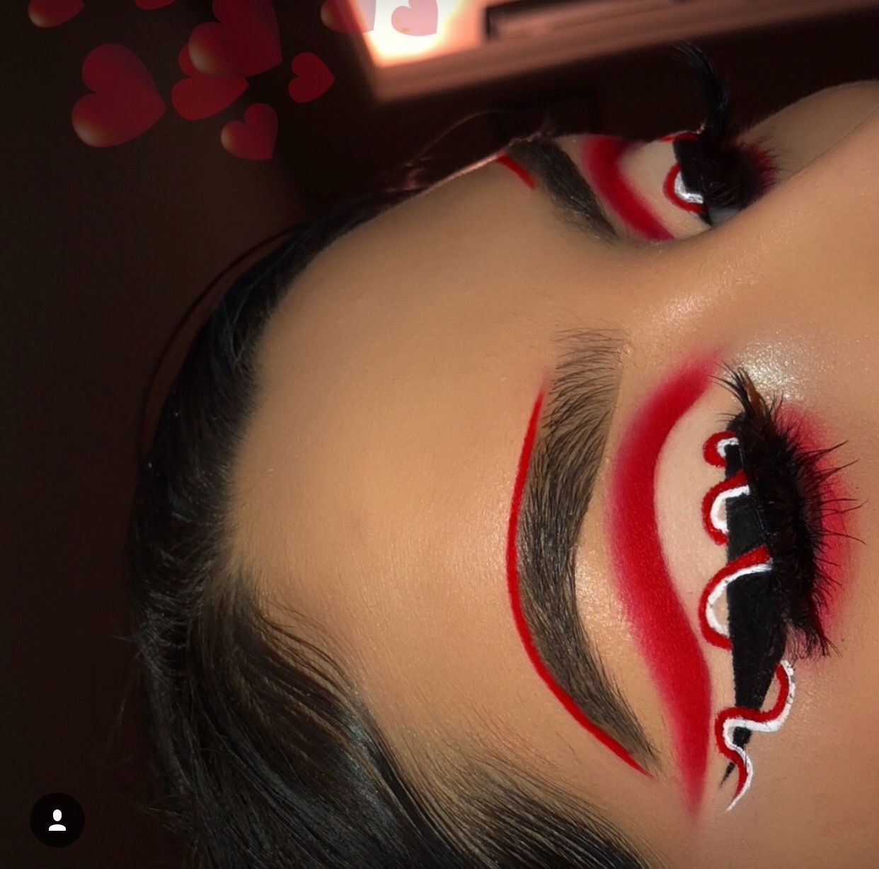 Makeup with light pink dress  Red Eyeshadow  Bold Cut Crease Eye Makeup Look  Red Black White