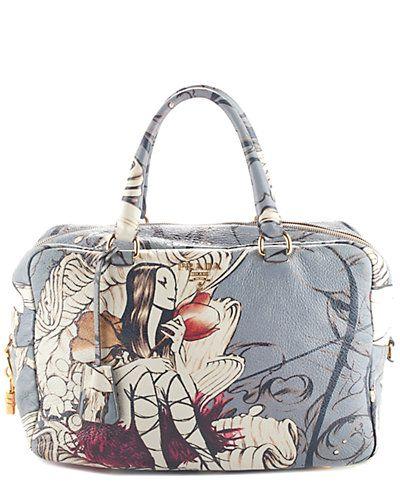 Rue La La — Prada Limited Edition Astro Cervo Lux Print Fairy Satchel f810b79f4c97b