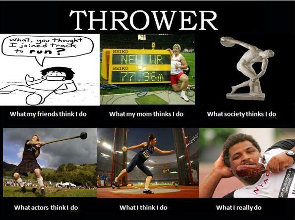 Throwers Lives Track And Field Shot Put Sports Memes