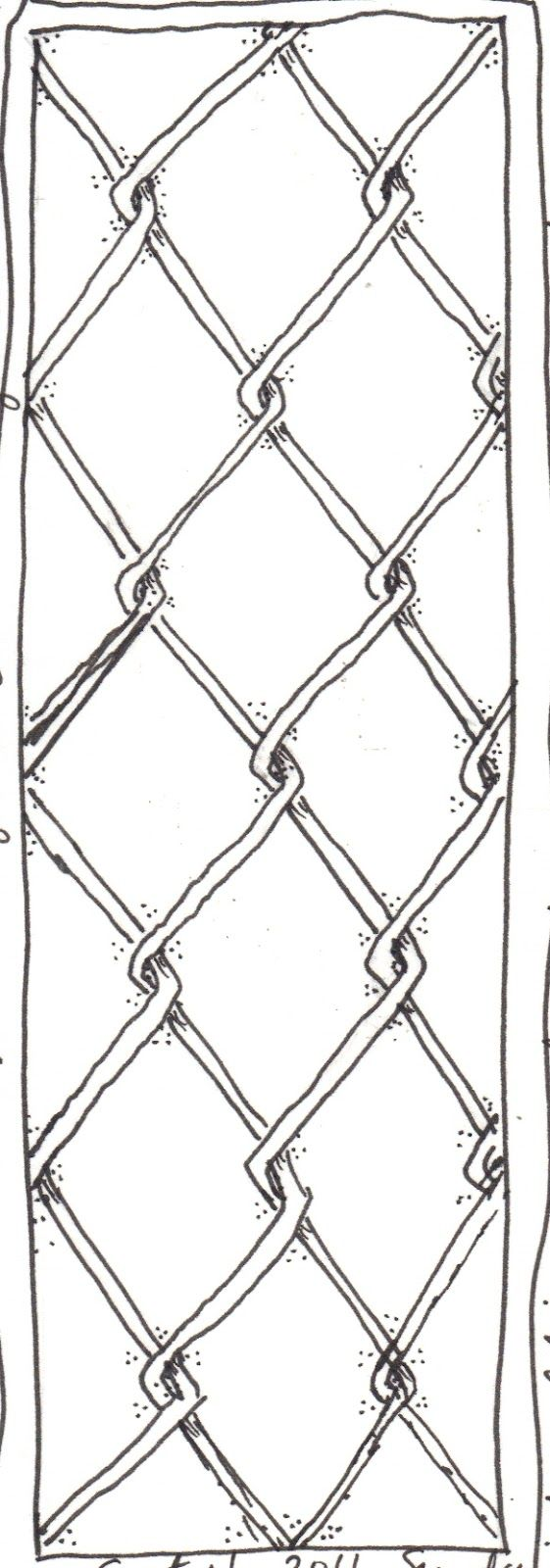It's harder than I thought to draw that chain link fence