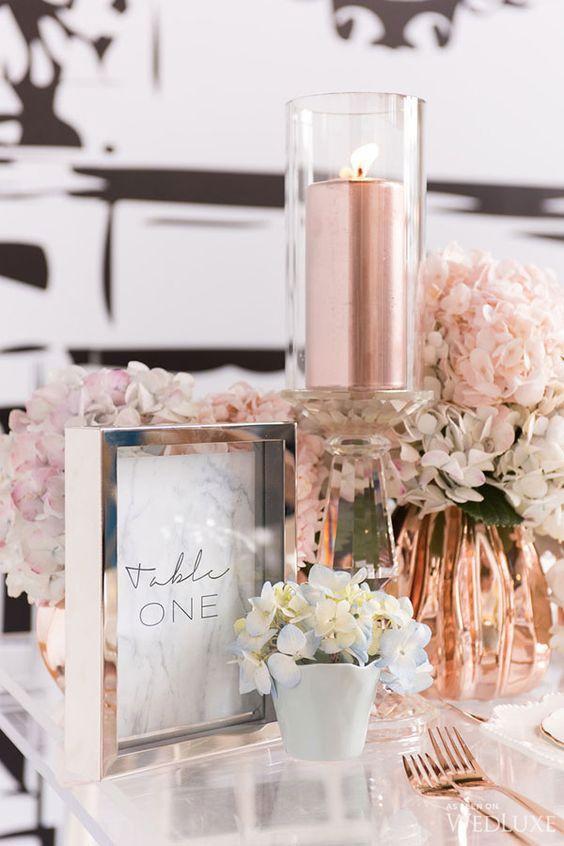 Préférence decor table chic glamour cuivre | Décoration de mariage ROSE GOLD  FG44