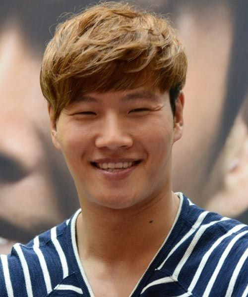 Kim Jong Kook blonde hair style in running man | hair | Hair styles