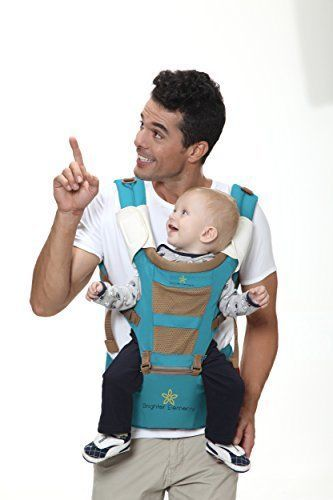 9a6b4a1bb4a Top Baby Carrier with Hip Seat Ergonomic Style 5 Convertible Positions Sling