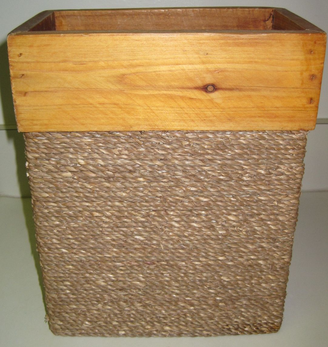 DONATION From KT Jute Rope Waste Basket Wrap A Metal Bed Frame