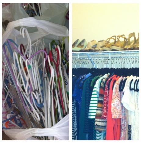 NEAT Method DC - before & after organizing a closet! #theNEATlife #washingtondc #organize