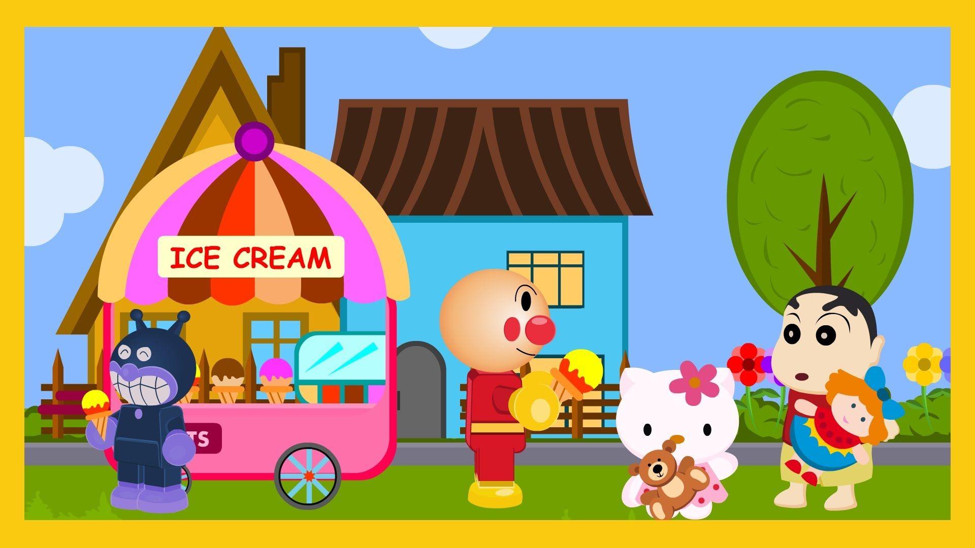 Anpanman Toys Anime Episode 21 Anpanman Ice cream shop