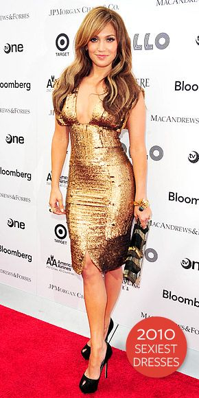 Jennifer Lopez - J. Lo gold dress