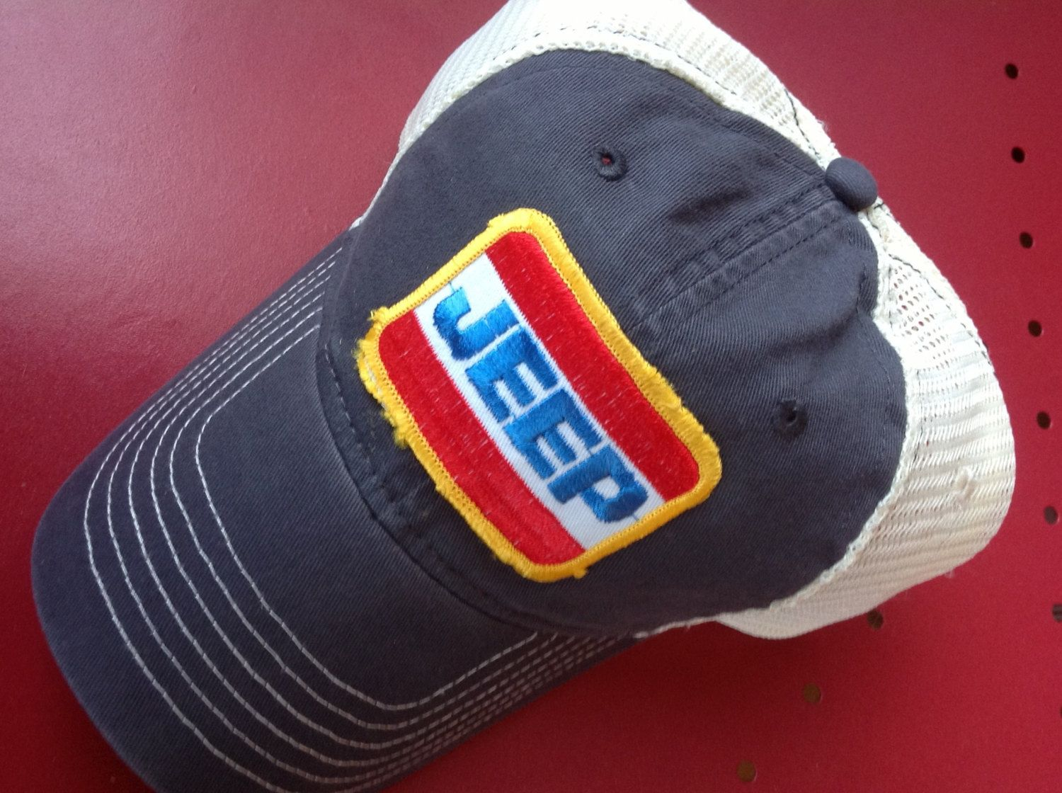 dc0254ab Jeep Trucker Hat by ThrowbackCaps on Etsy, $20.00   For Ben   Hats ...