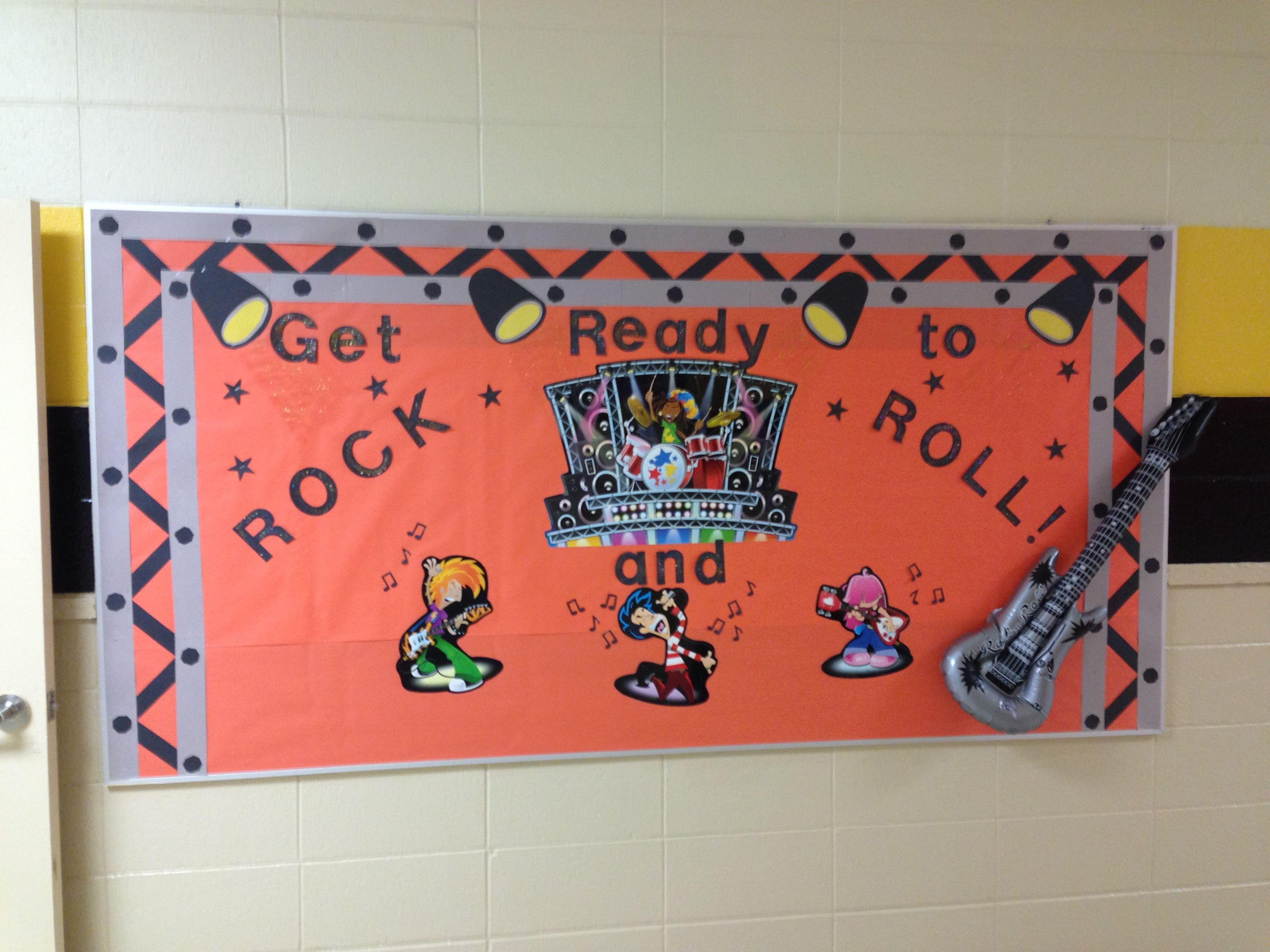 Rock And Roll Bulletin Board Bulletin Board Borders Classroom