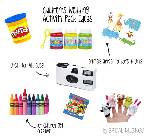 What To Include In A Childs Wedding Activity Pack Children At