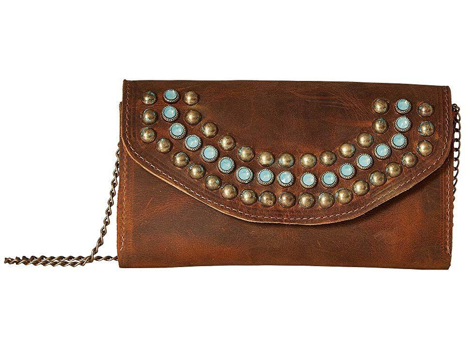 Leatherock wanda crossbody wallet tobacco wallet