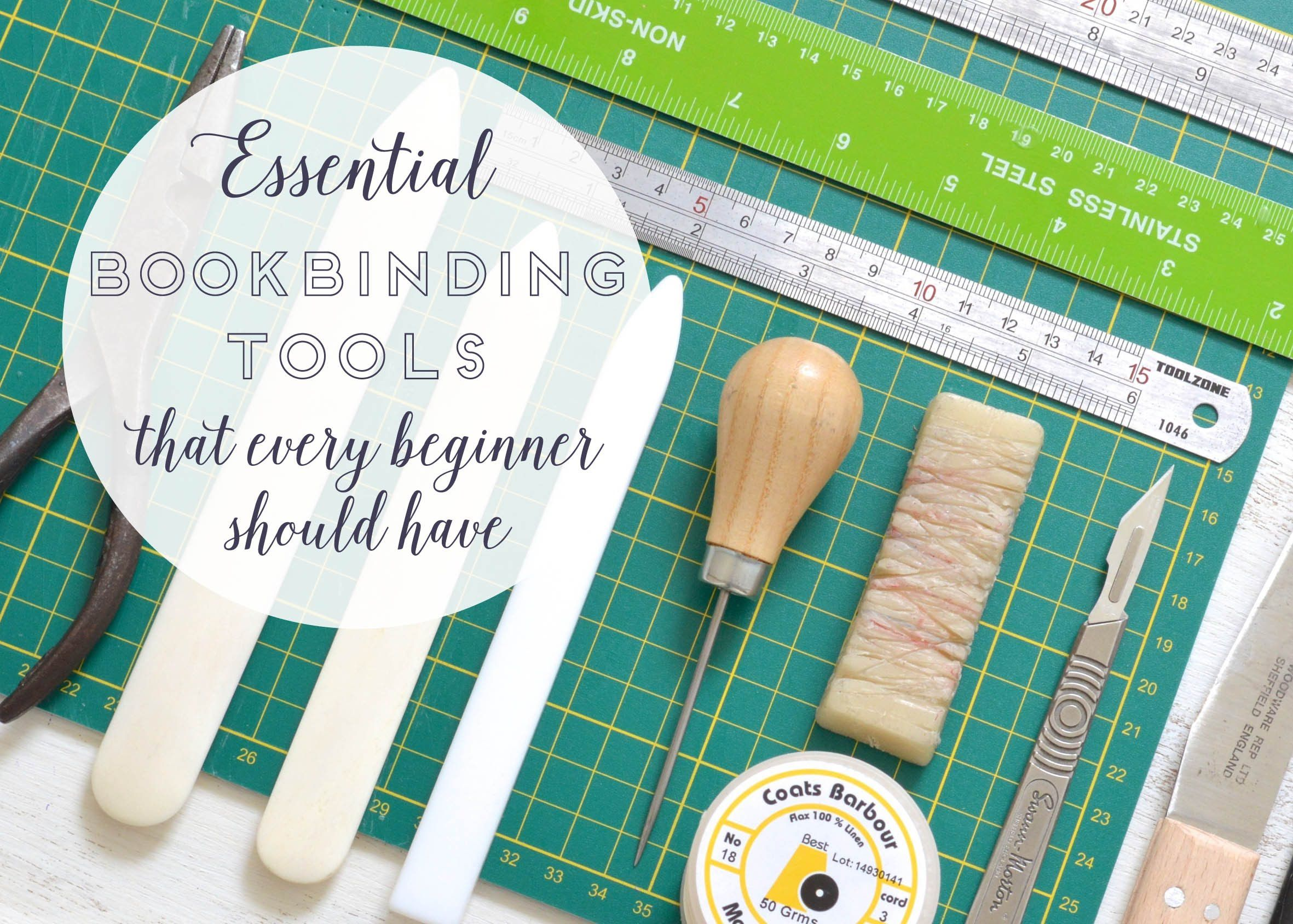 Essential tools that every beginner bookbinder should have