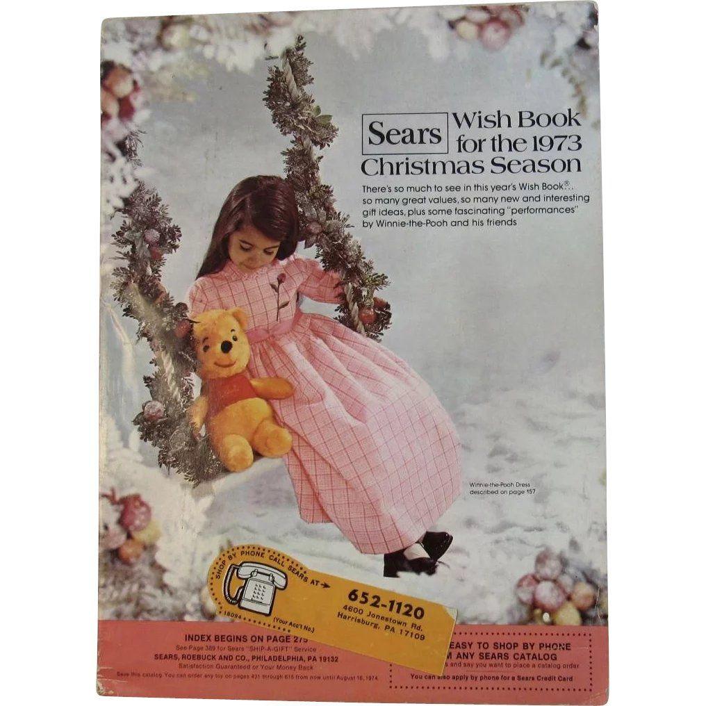 1973 Sears Christmas Wish Book Catalog Winnie The Pooh Vintage Christmas Toys Christmas Catalogs Christmas Books