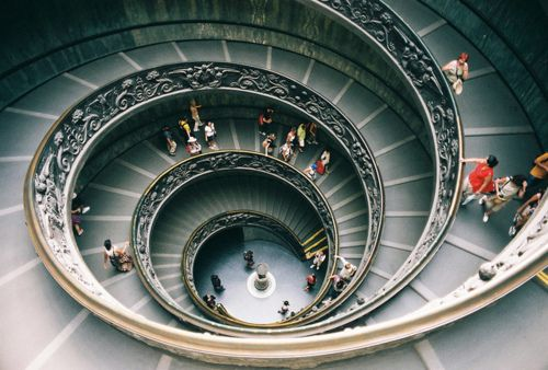 Spiral Staircase At The Vatican Museums Italy Travel