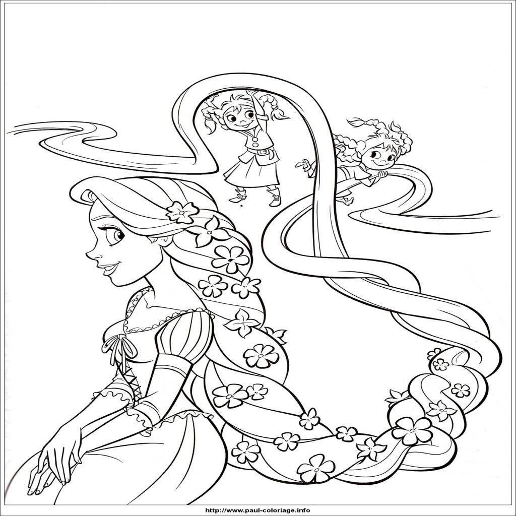 5 Coloriage A Imprimer De La Princesse Rebelle  Rapunzel coloring