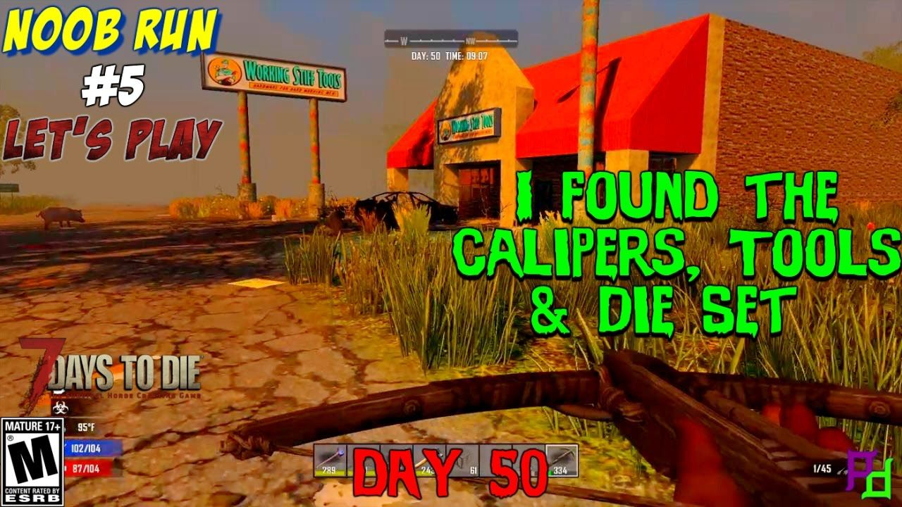 Where Are The Calipers Tools And Die Set In 7 Days To Die Ps4