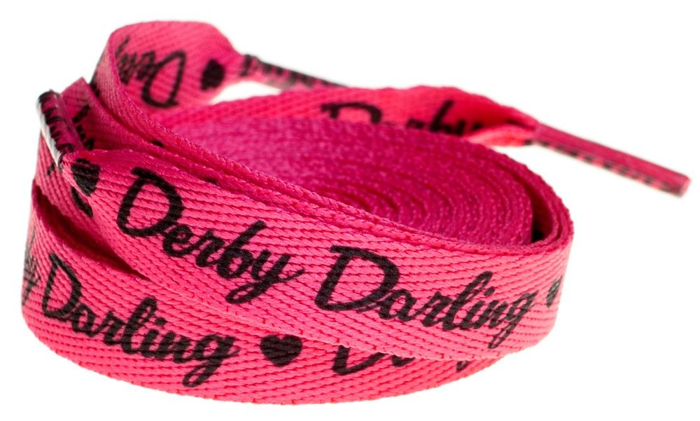 Sourpuss Derby Darling Laces Here S A Pair For The Sweet Little Derby Darling These Pink 72 Laces Feature The Derby Darling Signature Roller Derby Girls Pink Shoes Derby