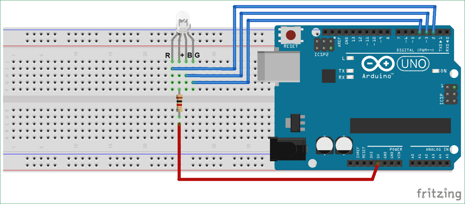 Single Rgb Led Interfacing Circuit Diagram With Arduino Uno Arduino Rgb Led Electronic Organization