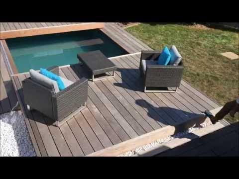 Terrasse mobile de piscine  un Rolling-Deck® en 2 parties à - installer une terrasse en bois