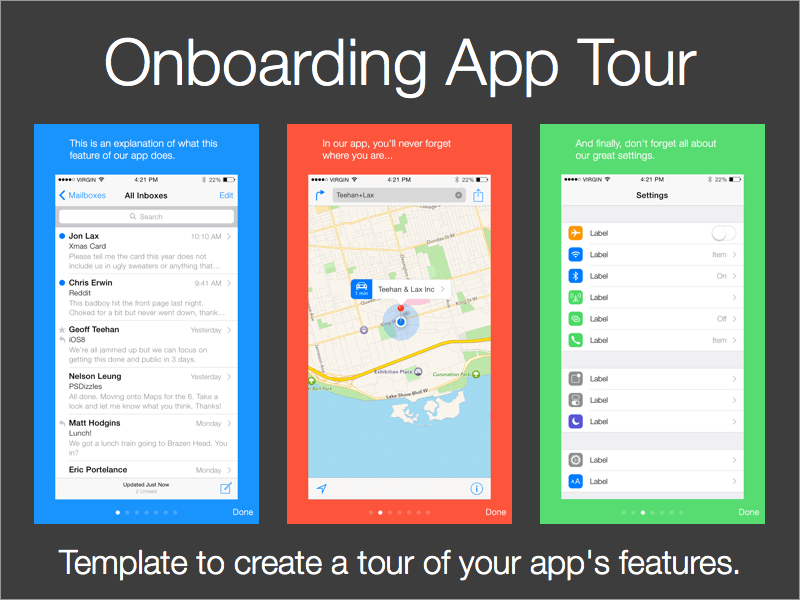 App On Boarding Tour Template Free Sketch Resource For Download Sketchhint Sketch Resource App Freebie Free Onboarding App App Templates