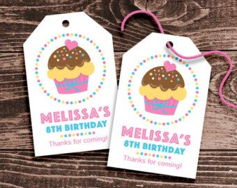 Personalized Butterfly Party Favor Tags DIY by paperspice on Etsy