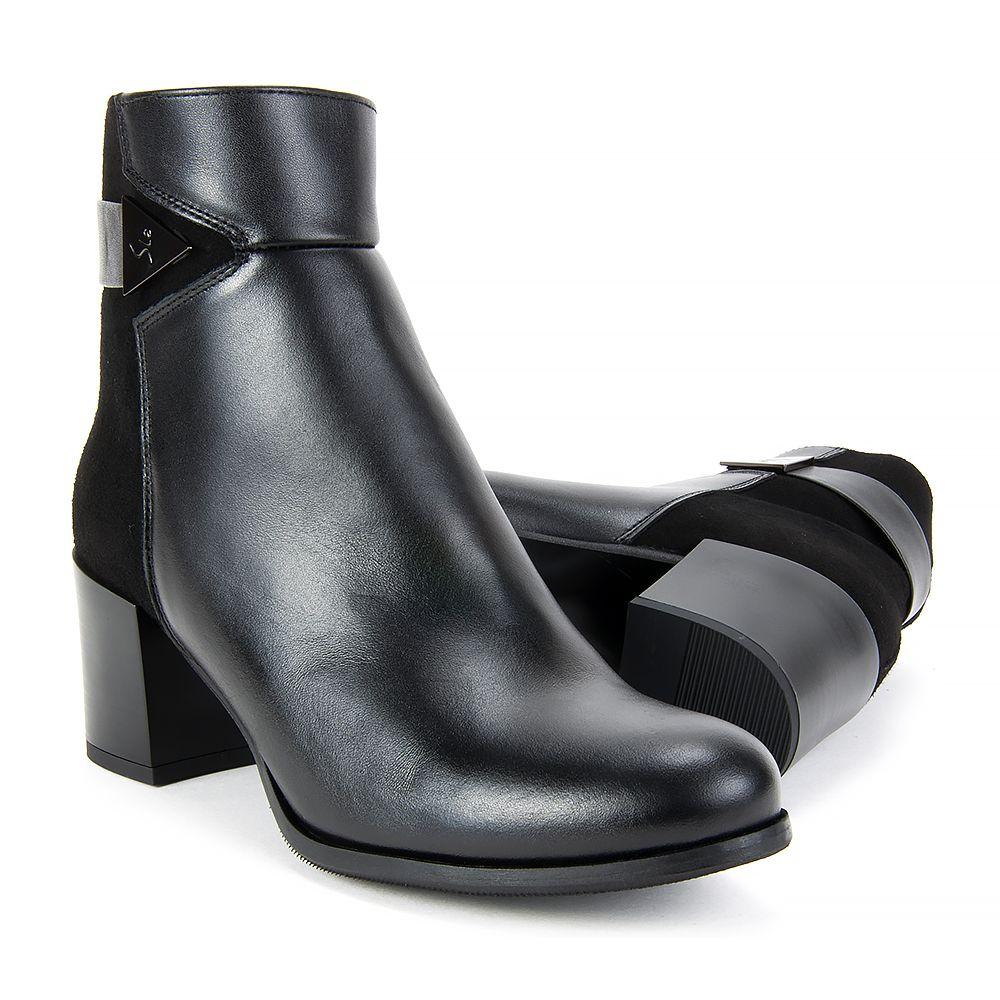 Botki Filippo 2065 Czarne Lico Zamsz Shoes Ankle Boot Boots