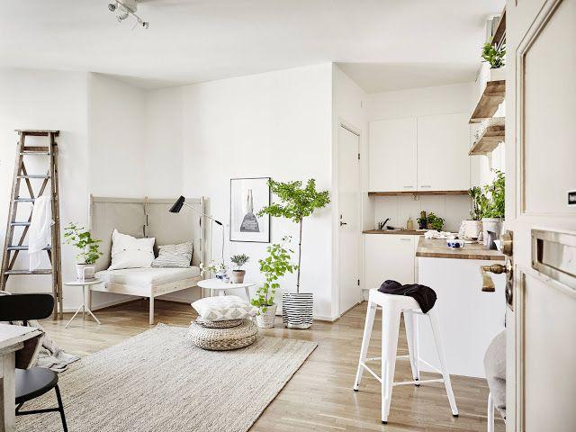 petit appartement tout blanc Daily dream décor via Nat et nature