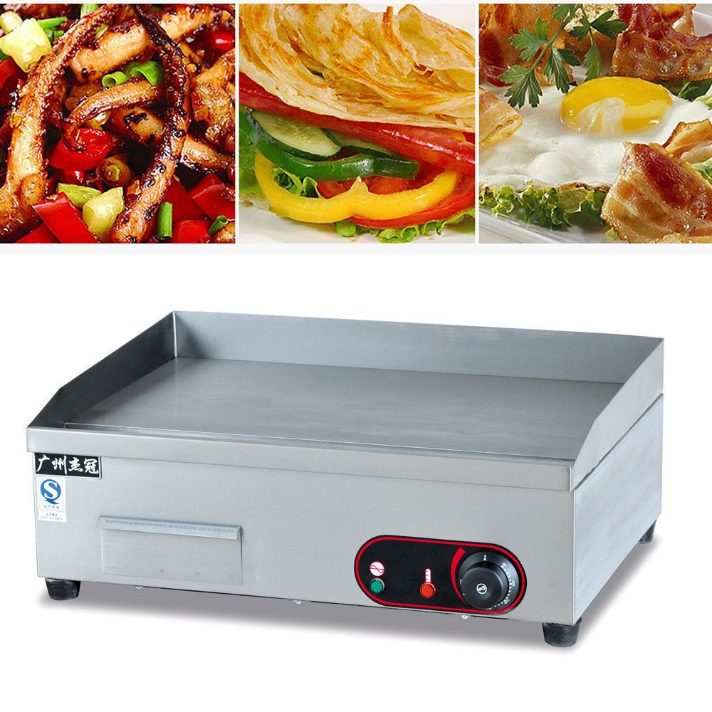 63CM Commercial Electric Griddle Flat Hotplate Kitchen BBQ Grill ...