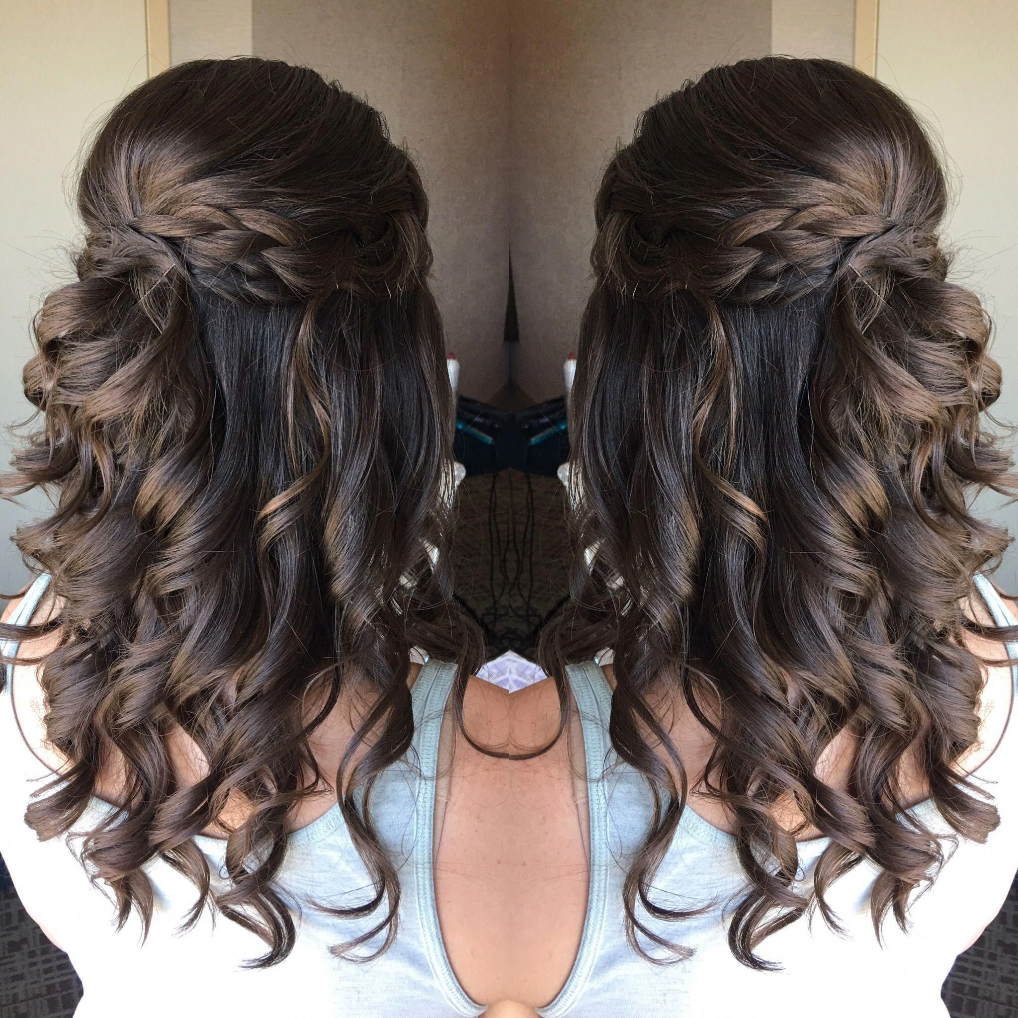 braided half up half down wedding hairstyle | great looking