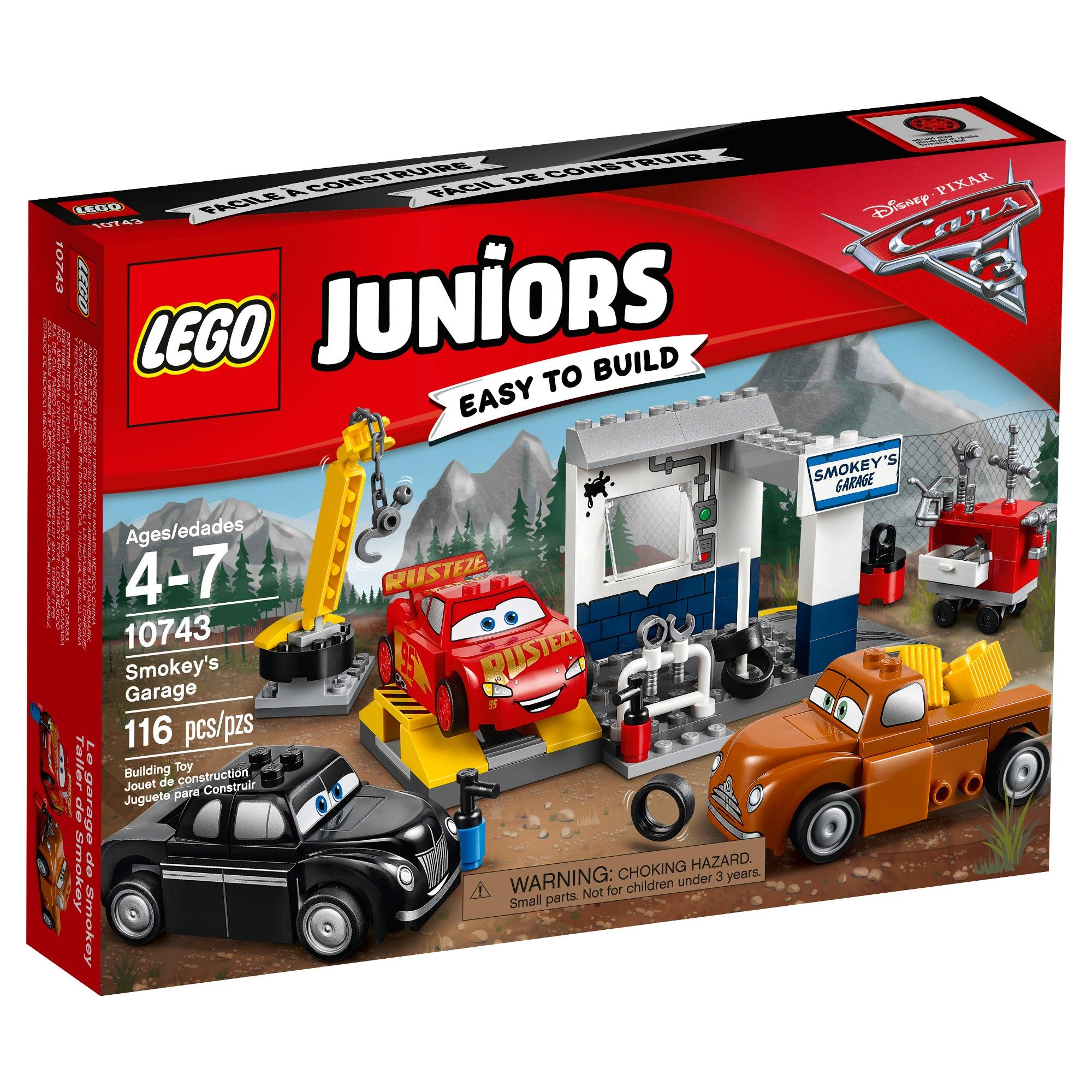 Cars 3 Jackson Storm Jouet Lego Juniors Disneypixar Cars 3 Smokey S Garage 10743