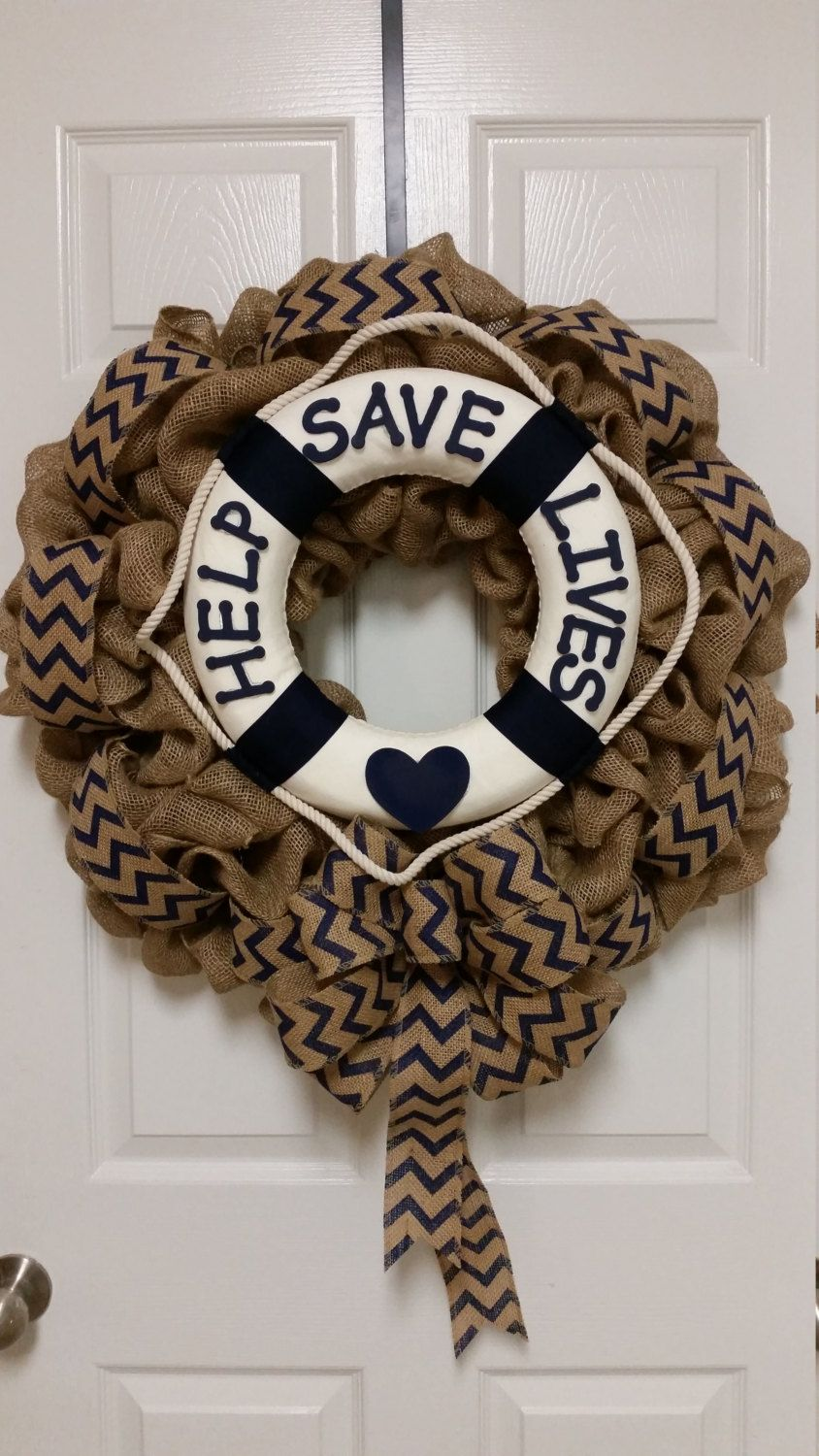 Suicide Awareness Wreath, Suicide Prevention Wreath, Causes and Awareness Wreath, Suicide Benefit Wreath, Help Save Lives Burlap Wreath by TriciasTreasures11 on Etsy